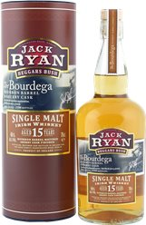 Jack Ryan Irish Single Malt Whiskey Aged 15 Years Bourbon Barrel Matured Sherry Cask Finished